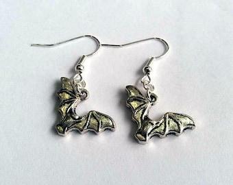 Bat earrings - bat jewellery