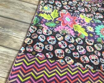 Sugar Skulls Minky Baby Blanket