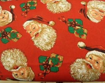 Red MULTICOLOR Christmas cotton fabric