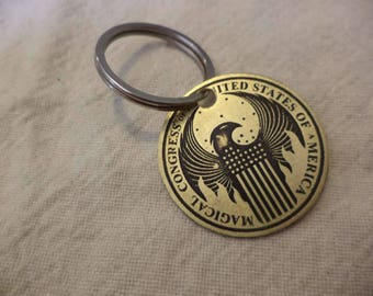 Magical Congress of the USA Etched Brass Keychain