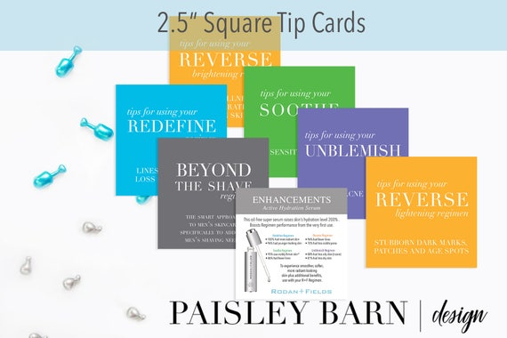 25 square tip cards mini facial rodanfields travel 25 square tip cards mini facial rodanfields travel business card anti aging redefine sample skin from paisleybarndesign on etsy studio reheart Images