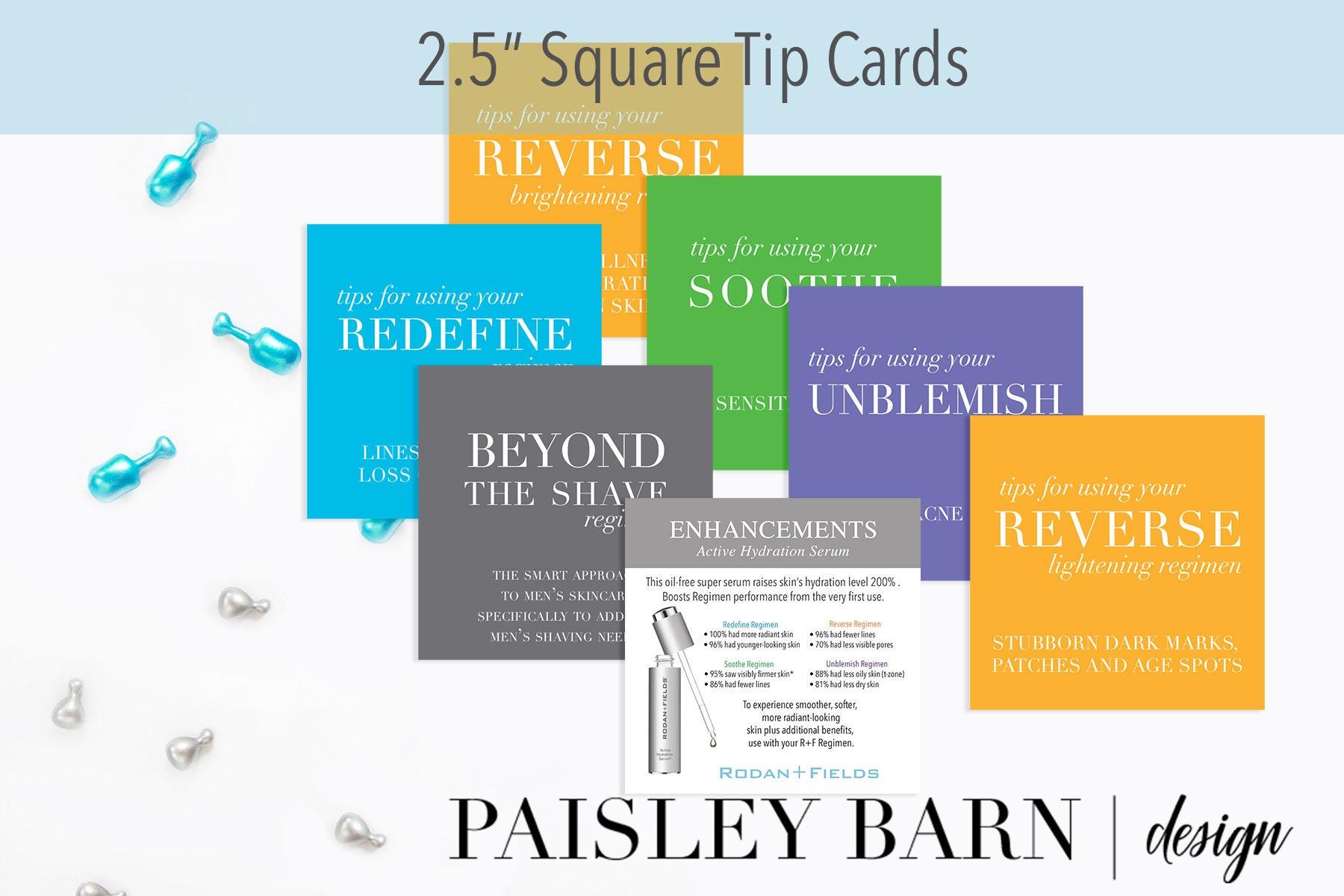 25 square tip cards mini facial rodan fields travel business 25 square tip cards mini facial rodan fields travel business card anti aging redefine sample skin reheart Gallery