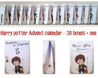 Wizard Advent Calendar for Harry Potter fans and wizards - Printable - Christmas countdown