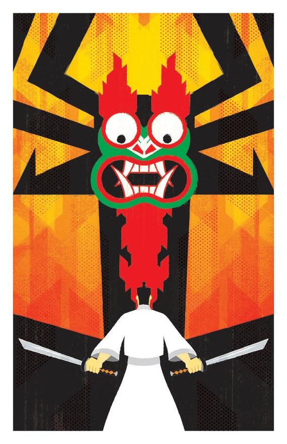 Samurai Jack Vs Aku drucken 11 x 17