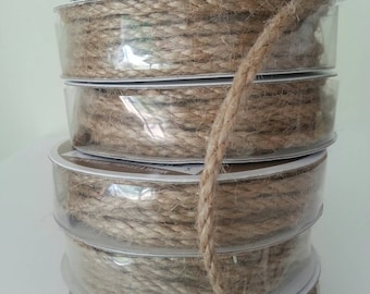 Natural Jute Cord. 1/2 in x 3 Yards Jute String. Burlap Twine. Rope. Wedding Favors. Rustic Crafts. Macrame Cord. High quality. Gift wrap.