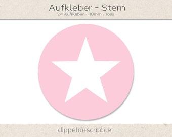Sticker Star Pink