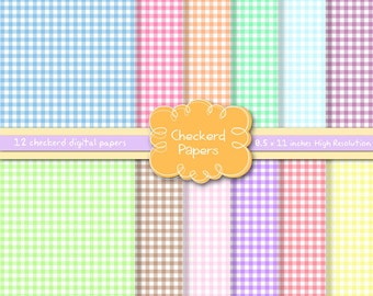 Checkered Papers, Picnic papers, Pastel papers