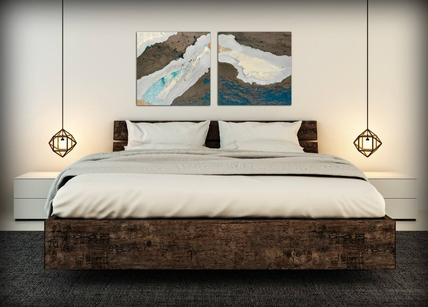 Zen Wall Art   Abstract Interior Wall Decor   Wall Art For Office Yoga  Studio Or Bedroom Art   Art Set Wall Hanging Abstract Paintings