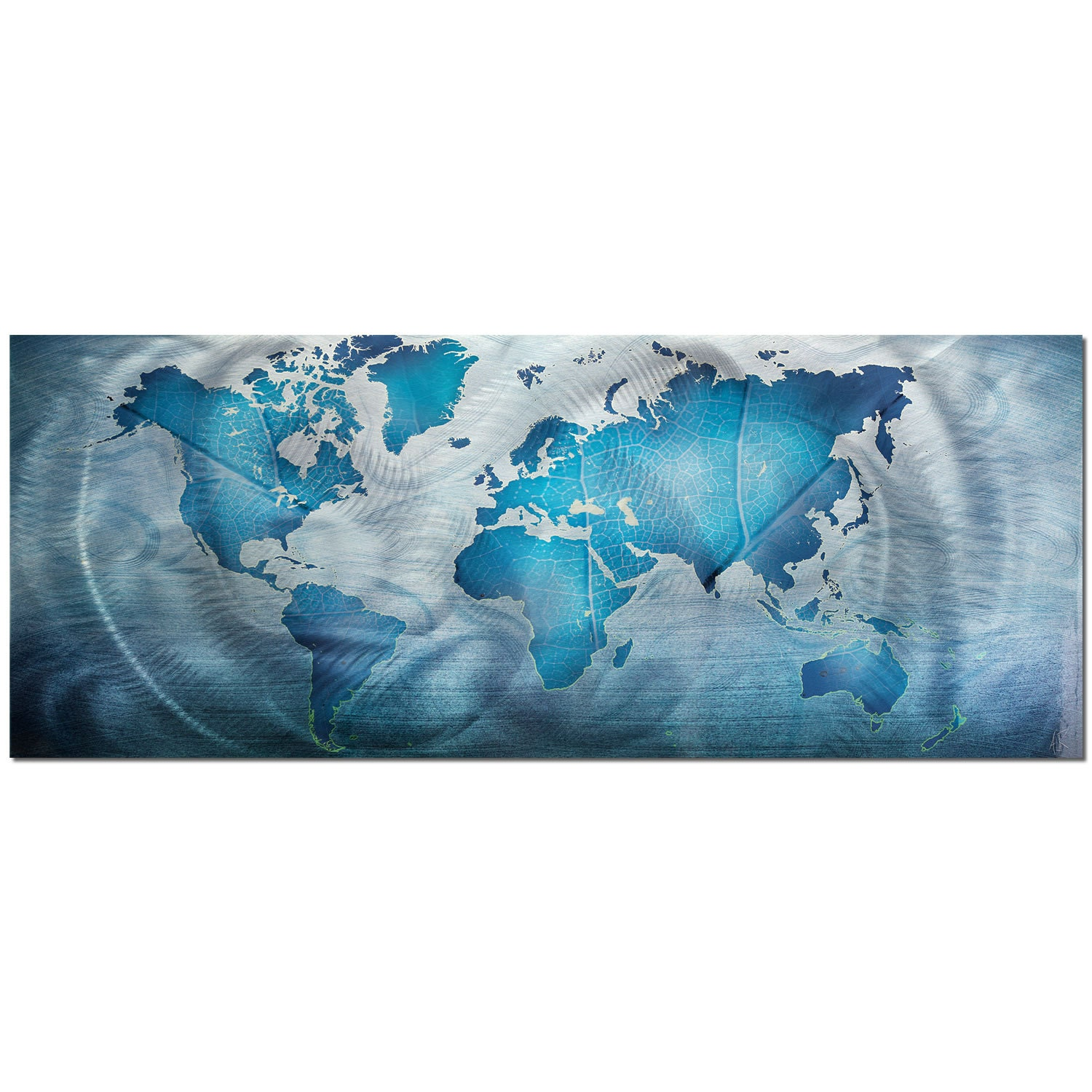 World map art modern wall painting land sea zoom sciox Images