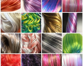Nylon Doll Hair, Custom Color Tress, Rerooting, continuously creating new color blends & fibers