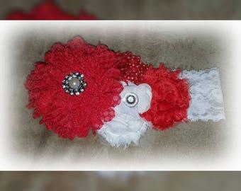 Red baby headband