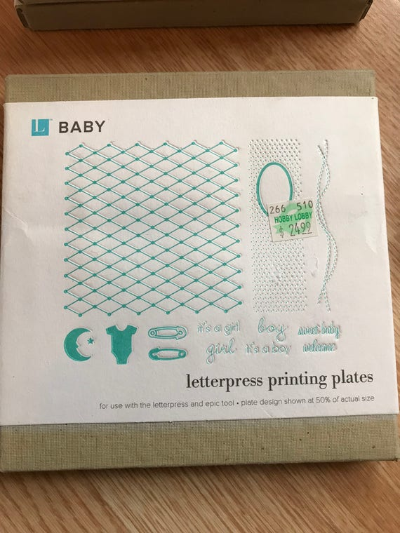 Letterpress Printing Plates Baby Christmas Halloween Thanksgiving Birthday Grads Thank You Thinking Of Just Because Hello Congrats From