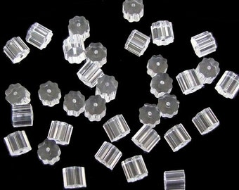500pcs plastic ribbed earnuts/earwire stoppers 3.5x3.5mm