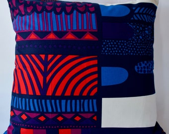 Marimekko Pillow Case, Handmade, 20x20 inches (50x50cm)