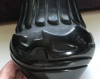 "Stella Chavarria Santa Clara Pueblo Blackware Pottery 5 1/2"" Vase signed # 148"