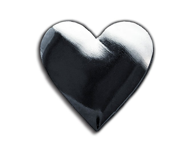 Dark Heart Emoji Pin