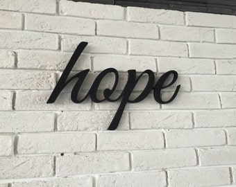 Wooden Letters HOPE sign  wall sign Hope, wall decor sign Hope, home decor wood sign Hope