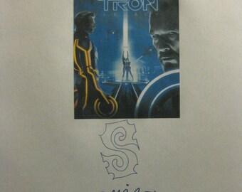 Tron Legacy Signed Film Movie Screenplay Script Autographs Jeff Bridges Garrett Hedlund Olivia Wilde Bruce Boxleitner James Frain signatures