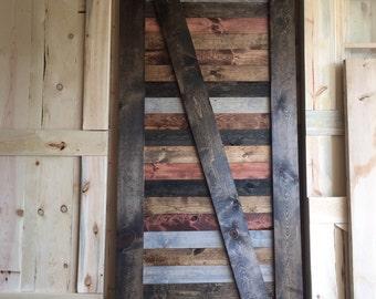 Multi stain vintage barn doors