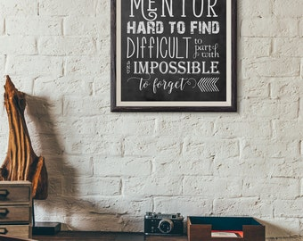 Word Art - Mentor Quote ~ Chalkboard Style