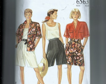 New Look Misses' Blouse , Top, and Shorts Pattern 6563
