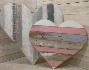 Extra Large Reclaimed Wood Heart, Cottage Decor, Kid's Room, Nursery, Photo Prop, Love, Shabby Chic, Fixer Upper, Rustic Wedding, Pallet Art