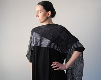 NOCTILIO shawl knitting pattern PDF