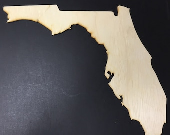 FL Florida Wood Cutouts - Shapes for Projects or Other Use