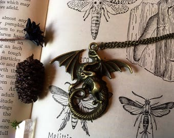 Vintage Style Dragon Necklace