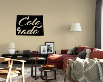 Colorado Wall Decal - Small & Large Removable Vinyl Wall Decals of Colorado State - Colorado Car Decal - Laptop - Macbook
