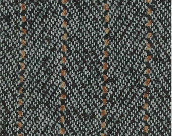 Black Novelty Stripe Suiting, Fabric By The Yard