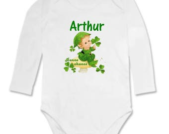Lucky charm personalized with name Bodysuit