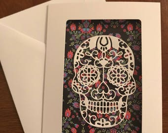 Sugar Skull Greeting Card