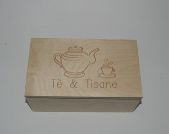 Wooden box Laser Engraving cm 11 x 19 x 8