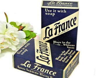 Two Boxes Vintage La France Laundry Bluing Powder Laundry Additive