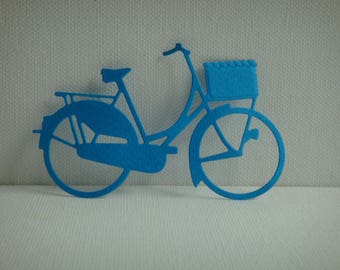 Cut city bike paper for scrapbooking and card dark blue design