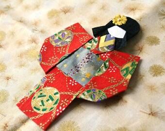 Magnet geisha in kimono sleeved #4