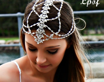 Bridal Headpiece Wedding Headpiece Head Jewelry Chain Head Chain Bridal Head Chain Hair Jewelry Headpiece Head Piece Hair Chain Bridal Hair