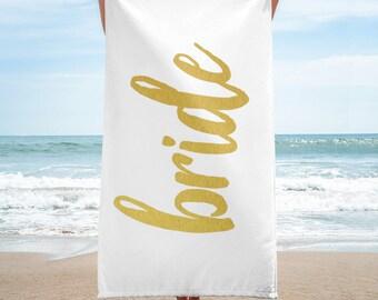 Bride Beach Towel / Honeymoon Towel