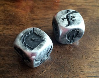 Engraved Runology Number Dice for Tabletop Gaming - You Pick the Color!