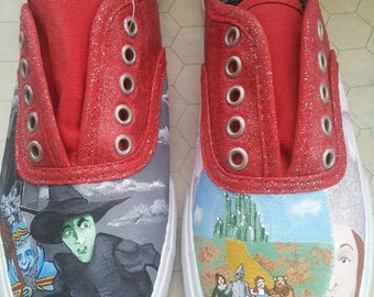 Custom painted Wizard of Oz Shoes