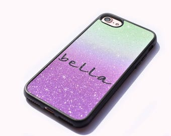 Personalised glitter ombre phone cases