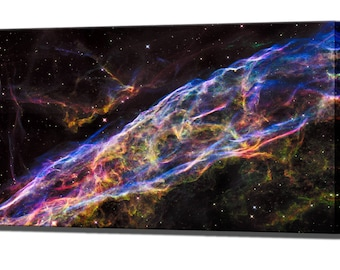 Galaxy Hubble Space Veil Nebula Wall Art Decor Gift Canvas Wall Art Print Ready To Hang