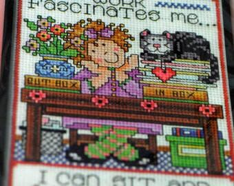 Counted Cross Stitch - Work Fascinates Me