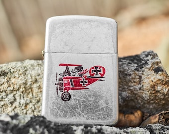 Vintage Storm King lighter with Red Baron