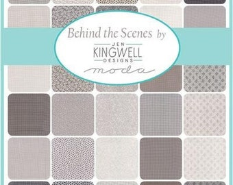 Behind the Scenes Charm Pack by Jen Kingwell for Moda Fabrics, 5 inch squares