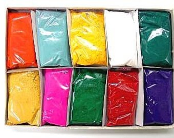 10 Pack of 50 gms Holi Color / Color Runs & Photography prop- High Quality Powder