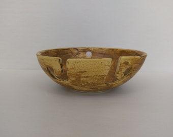 YARN BOWL - Salt Buff - Hand Made Ceramic #824