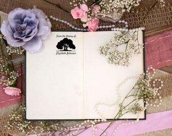 Self Inking Kids Stamp, Personalized Kids Stamp, Custom Stamp, Kids Name Stamp, This Book Belongs to Stamp, Library Stamp --12157-PI53-000