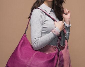 Handbag shoulder strap adjustable/ Classic / large size  violet # 30